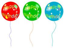 气球生日 免版税库存图片