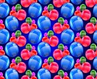 从气球的无缝的样式 库存照片