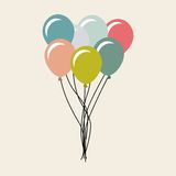 气球空气党庆祝 免版税图库摄影
