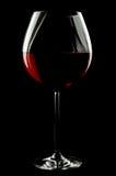 气球红色浓葡萄酒杯酒 库存照片