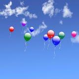 气球群 库存照片