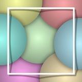 气球背景白色框架 图库摄影