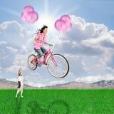 气球自行车 库存图片