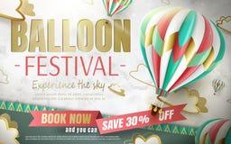气球节日广告 库存例证