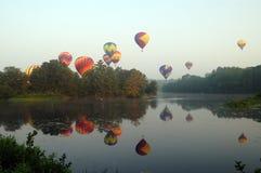 气球节日pittsfield 免版税库存图片