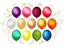 气球设计要素 免版税库存图片