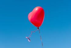 气球重点红色形状 免版税库存图片