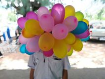 气球面具 免版税图库摄影