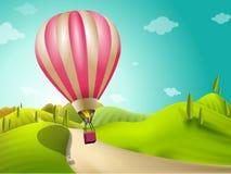 气球风景 免版税库存图片