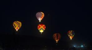 气球飞行热photgrphed显示VA的bealton马戏 库存图片