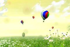 气球飞行 免版税库存照片