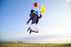 气球飞行 库存照片