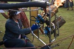 气球驾驶者燃烧器运行 免版税库存图片