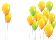 气球,在白色背景的桃红色气球 也corel凹道例证向量 免版税库存图片