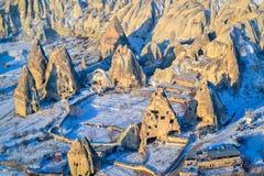 从气球, Capadoccia,土耳其的风景视图 库存照片