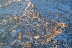 从气球, Capadoccia,土耳其的风景视图 免版税库存图片