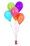 气球:六俏丽的乳汁气球 图库摄影