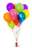 气球:十二明亮的色的气球花束 免版税库存照片
