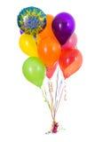 气球:生日快乐十二气球花束 免版税库存照片