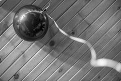 黑气球 免版税库存图片