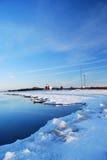 气象站冬天 库存照片