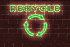 氖回收标志 免版税库存图片