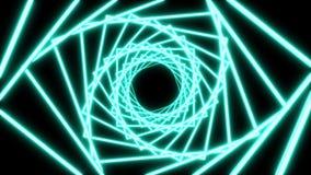 氖扭转的平直的隧道圈 库存例证