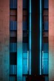 氖被点燃的旅馆 免版税库存图片