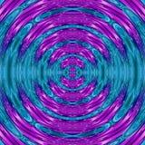 氖转动与发光的圆框架的例证在蓝色小野鸭和霓虹小野鸭和淡紫色颜色紫外作用波纹  免版税图库摄影