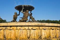 氚核喷泉,瓦莱塔 免版税库存图片