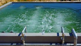氧化作用污水处理的巴恩 免版税图库摄影