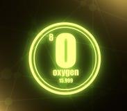 氧气化学元素 向量例证