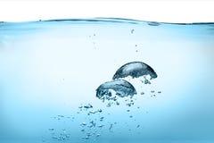 氧气泡影。健康淡水 库存图片