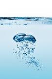 氧气泡影。健康淡水 免版税库存照片