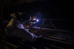 氩焊工 库存图片