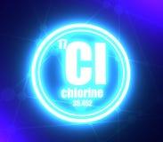 氯化学元素 库存例证