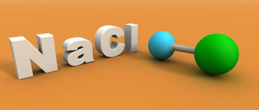 氯化物分子钠 库存例证