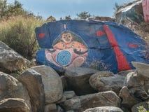氯化物,亚利桑那沙漠艺术品 库存照片