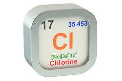 氯 向量例证