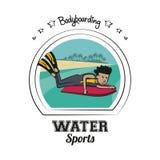 水上运动动画片 库存图片