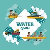 水上运动动画片 免版税图库摄影