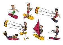 水上运动动画片 库存照片