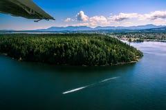 水上飞机乘驾 图库摄影