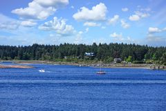 水上飞机和风船 免版税库存图片