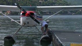水上飞机基地 股票视频