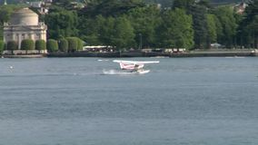 水上飞机着陆 股票录像