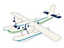 水上飞机 向量例证