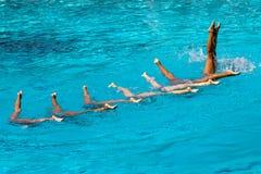 水下墨西哥的队列 库存图片