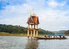 水下寺庙的响铃,未看见在泰国 免版税库存图片