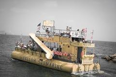 水下小船旅行在Ayia Napa 免版税图库摄影